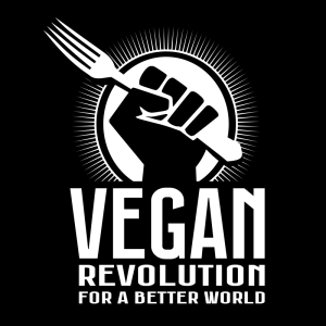 Vegan revolution for a better world draagtas